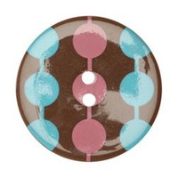 34mm Round Confetti Button -3202