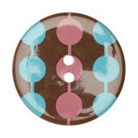34mm Round Confetti Button -3202