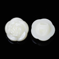 Ivory Coloured Flower Shaped Shank Button