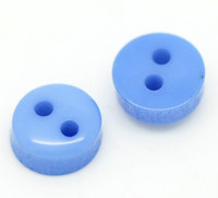 Micro Button Blue 2 Holes Acrylic Sewing Buttons 6mm