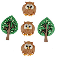 Dress It Up Buttons Night Owls