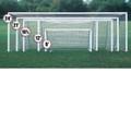 Bison Premium Painted Club Soccer Goal(4''x2'' RECT)-8'x24'x4'x1