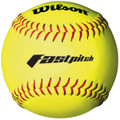 Wilson 12'' Synthetic Red Stitch Fastpitch Softballs