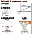 Gared Standard Duty Adjustable Straight Post Package - Fan Backboard w/o Border