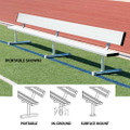 "Player Bench with Back - portable, in-ground, or surface mount (7'6"", 15', 21', 27')"