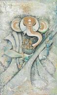 Ganesha holding ladoos & veena