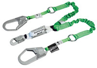 6-ft. double leg Web Lanyard w/SofStop, 1 locking snap hook and 2 locking rebar hooks (2-1/2 in.)