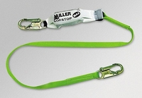 Miller 6' Lanyard w/ Double SofStop Shock Absorbers - 2 Locking Snap Hooks - 940WLS/6FTGN