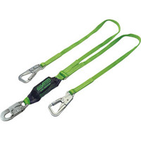 Miller 6' Double Leg Lanyard w/ 3 Locking Snap Hooks - 8798/6FTYL