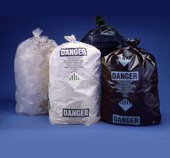 6 Mil Clear 36x60 Printed Asbestos Bag 50/roll