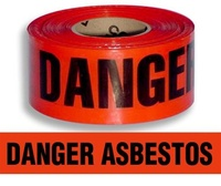 Danger Asbestos Barrier Tape