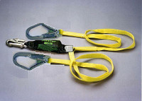 Miller 6' Double Leg Lanyard w/1Locking Snap Hook and 2 Locking Rebar Hooks- 8798R/6FTYL