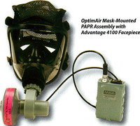 MSA OptimAir Mask-Mounted PAPR [With Type HE Optifilter XL Cartridge]