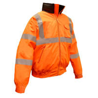 Radians Class III Quilted Hi-Viz Orange Bomber Jacket [M-5XL]