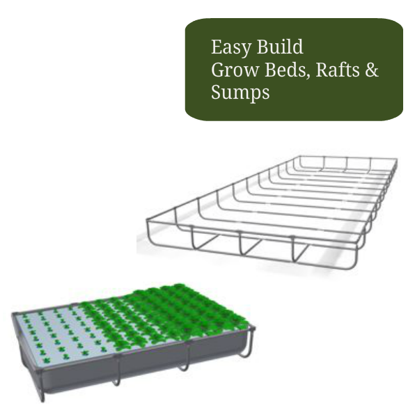 Aquaponic Easy Build Grow Beds, Rafts, and Sumps