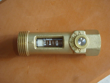 Brass Flow Meter for recirculating Hot Water System