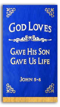 God Loves Chapel Banner