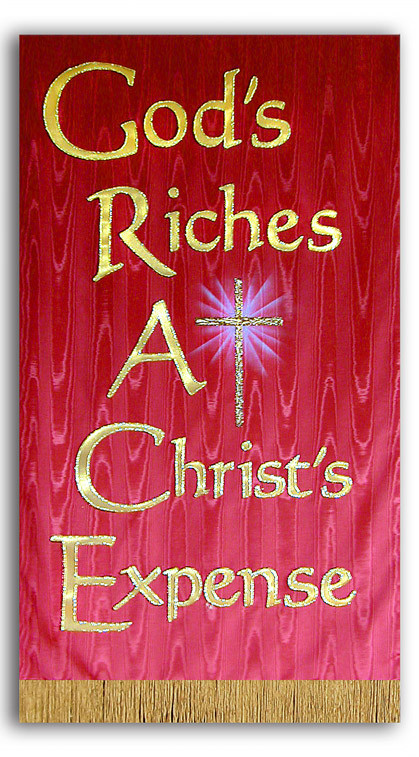 GRACE God's Riches At Christ's Expense Banner