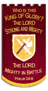 King of Glory Spiritual Warfare Warrior Banner