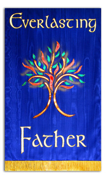Everlasting Father with Burning Bush Processional Banner