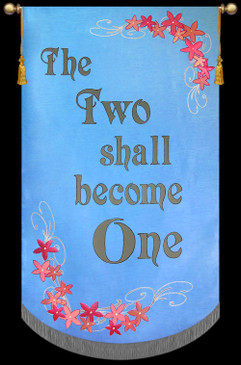 Church Banner - Wedding - The Two - 7' x 48""
