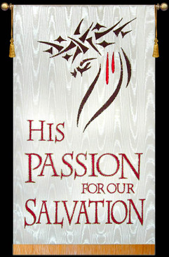 SALE BANNER - His Passion for our Salvation - 7' x 48""