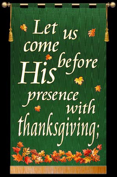 SALE BANNER - Let us come - thanksgiving - 7' x 48""