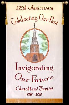 Customized Photo Banner -  Churchland Baptist Anniversary