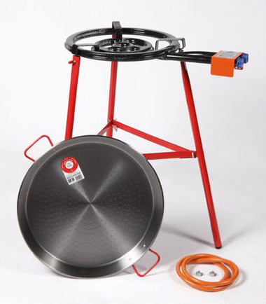 Paella burner garcima 400mm gas cooker with 50cm paella pan for Plat a paella gifi