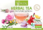 Novin Herbal Tea with 100% Saffron