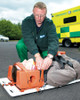 Ferno Universal Head Immobiliser   Fitted to Casualty   Physical Sports First Aid