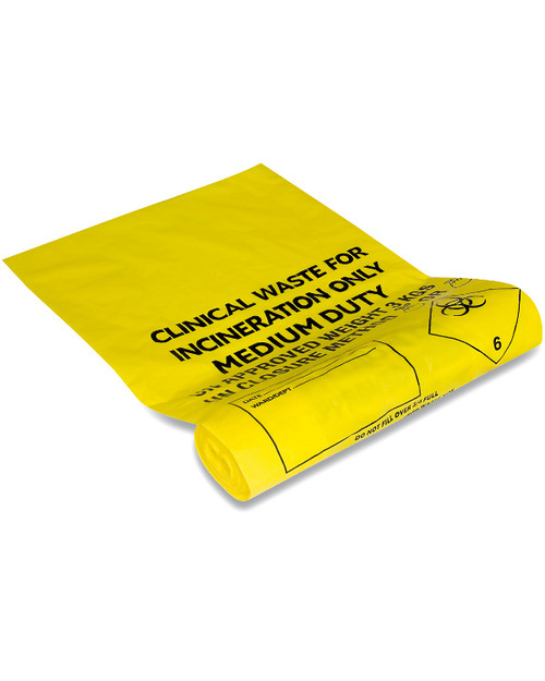 Clinical Waste Bags   Biohazard Bags   Quantity of 5   Physical Sports First AId