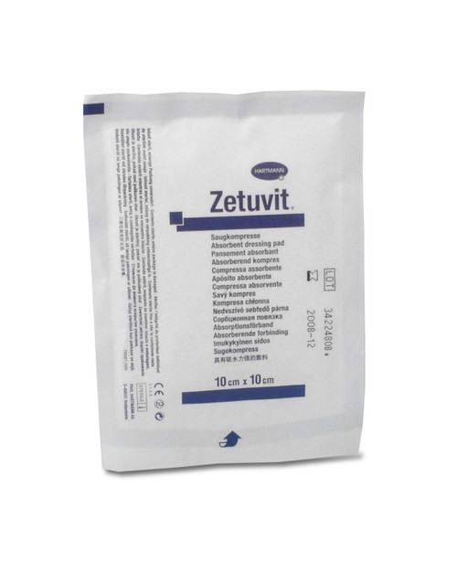 Zetuvit E Sterile Trauma Dressing, 10cm x 10cm | Physical Sports First Aid