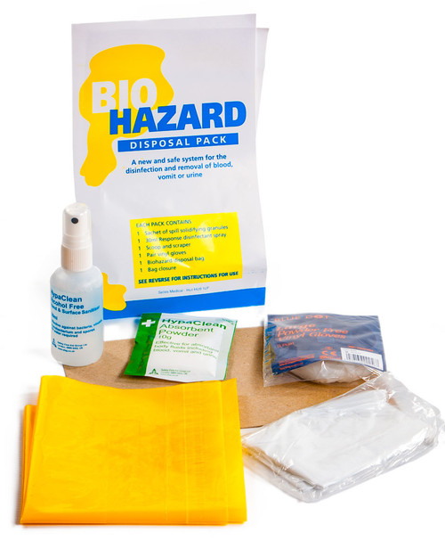 Biohazard Disposal Pack, Contents   Physical Sports First Aid