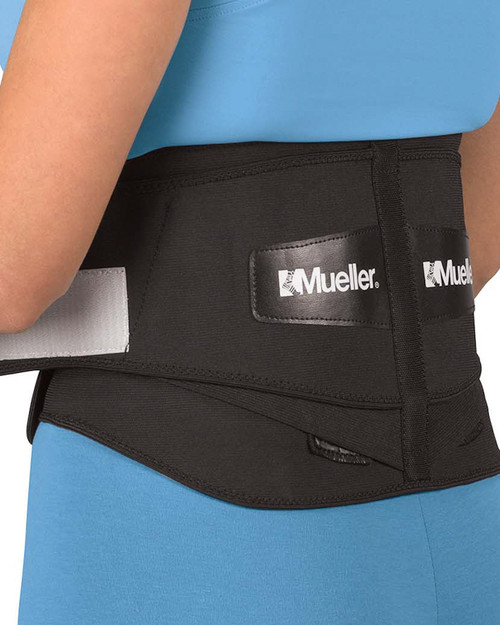 Mueller 255 Adjustable Back Brace with Lumbar Pad | Side View | Physical Sports First Aid