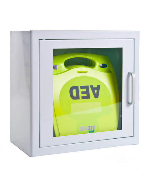 ZOLL AED Plus and Cabinet Bundle Deal   Physical Sports First Aid