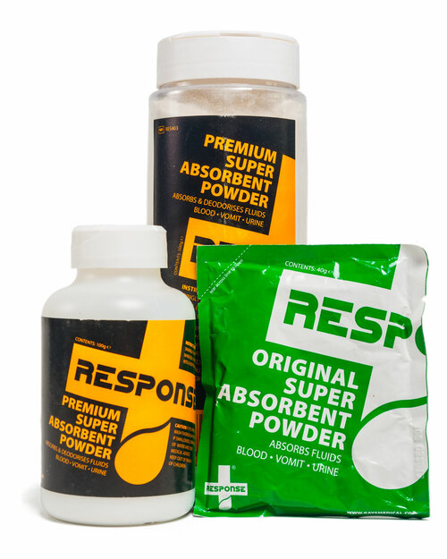 Response Super Absorbent Powder | Group Shot | Physical Sports First Aid