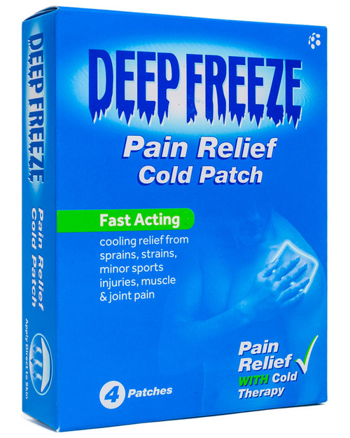 Deep Freeze Cold Patches | Pack of 4 | Physical Sports First Aid