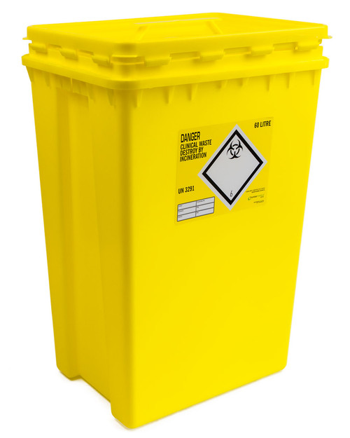 Sharpsafe Clinical Waste Bin 60l   Physical Sports First Aid