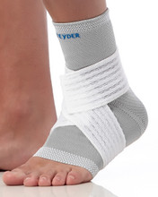 Teyder Silver Ankle Brace with Compression Strap