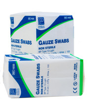 Gauze Swabs, 100 Packs | Physical Sports First Aid