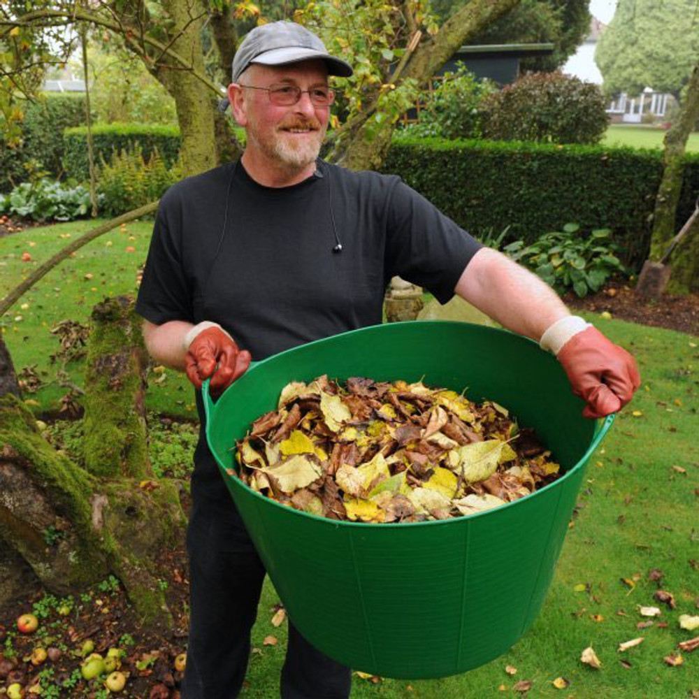 Extra Large Tubtrugs are great for collecting leaves in the garden.