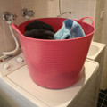 Large Tubtrugs make fantastic laundry baskets.