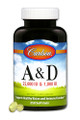 Carlson Vitamins A & D3 (25,000 + 1,000 IU) - 250 softgels