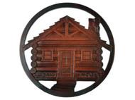 Log Cabin Trivet - Rosewood