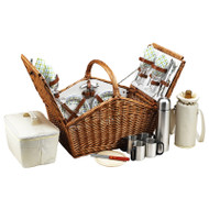The Huntsman Picnic Basket for 4 with Coffee Set & Blanket