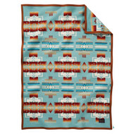 Pendleton Blanket - Chief Joseph Kids Blanket -Aqua
