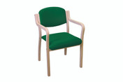 Aurora Stacking Visitor Seat, Easy Access Arms, Anti-bacterial Vinyl Upholstery (Multibuy)