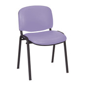 Galaxy Stacking Visitor Seat, No Arms,  Anti-bacterial Vinyl Upholstery - 14 colours (Multibuy from £44.40)