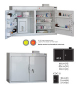Buy MC4 Outer Medicine Cabinet 66cm(H) x 80cm(W) x 30cm(D) CDC21 Inner Cabinet 30cm(H) x 21cm(W) x 27cm(D) (SUN-MCDC421) sold by eSuppliesMedical.co.uk